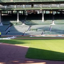 Closer view of field through right field gate