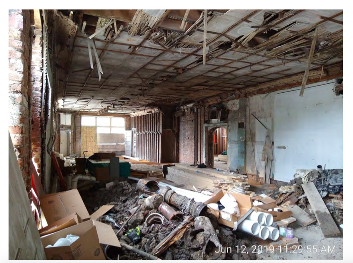 This is how the Corliss Avenue property looked inside during an inspection in June — a month after rehab work was supposed to have been completed.
