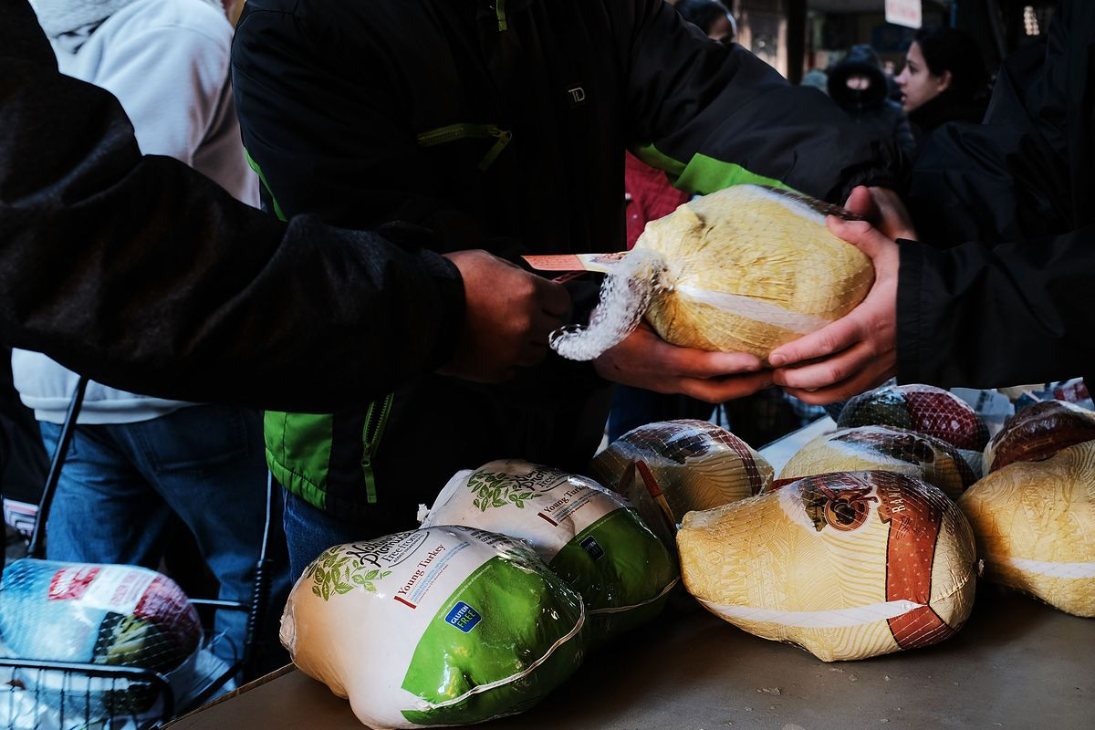 Brooklyn Food Pantry Gives Away Thanksgiving Turkeys To The Needy