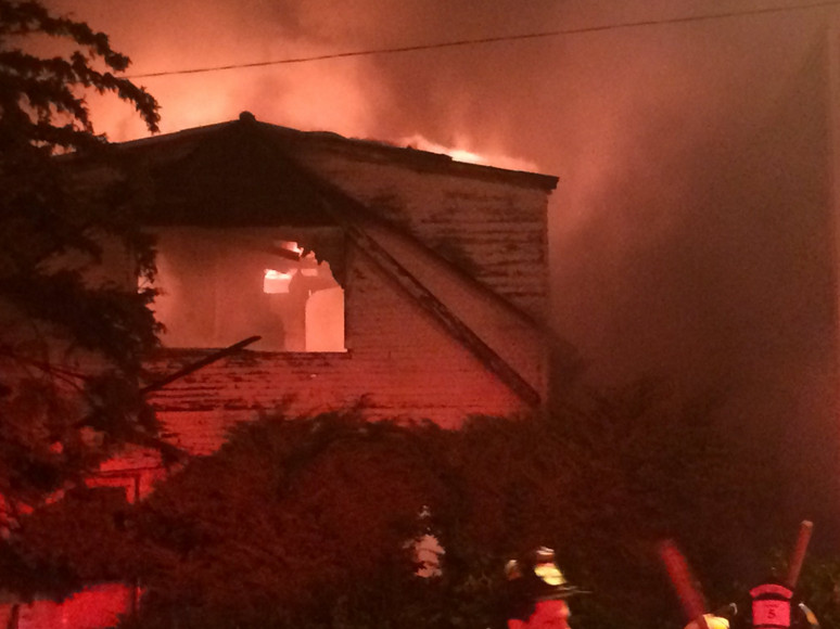 Three houses caught fire early Sunday in Fernwood. | Chicago Fire Department
