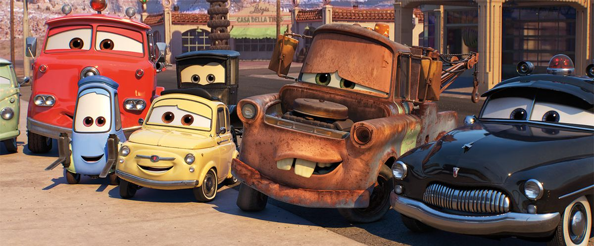 The gang from Cars 3