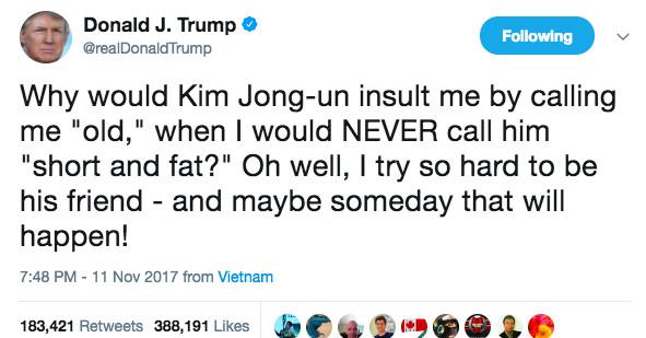 「trump tweet kim」的圖片搜尋結果