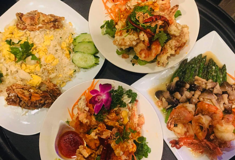 A sampling of the Thai and Chinese dishes that can be ordered for pickup at Jasmine Rice.