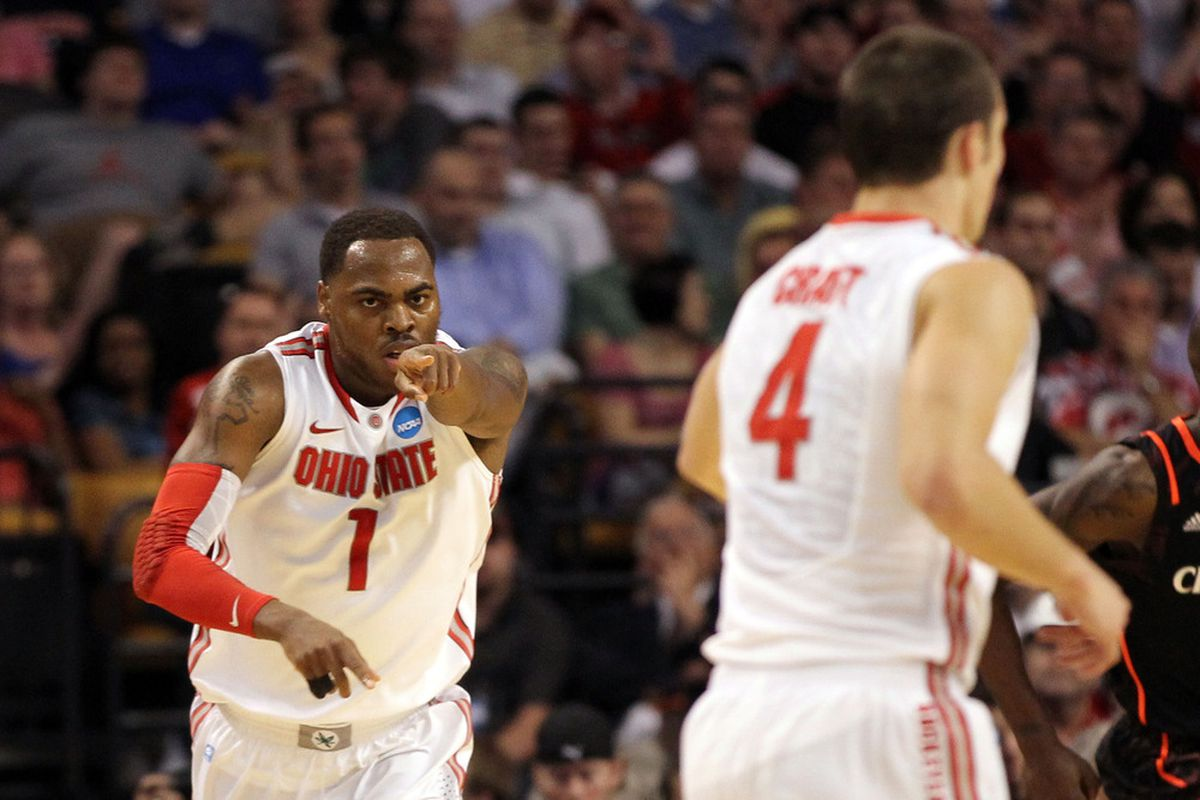 Aaron Craft locked it up on defense and Deshaun Thomas provided first half fireworks to lift Ohio State to a sweet victory. (Photo by Jim Rogash/Getty Images)