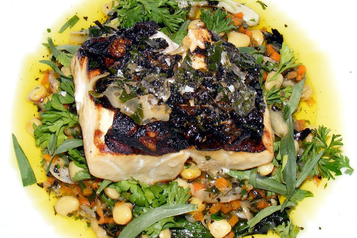 """Bass Oreganata from Carbone by <a href=""""http://www.flickr.com/photos/37619222@N04/8686539764/in/pool-eater"""">The Food Doc</a>"""