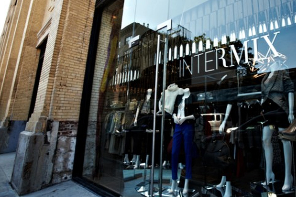 Outside the Intermix in the Meatpacking District