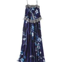 """<b>Twelfth Street by Cynthia Vincent</b> Tiered Silk Maxi Dress, <a href=""""http://piperlime.gap.com/browse/product.do?cid=1008627&vid=1&pid=989966002 """">$418</a>"""