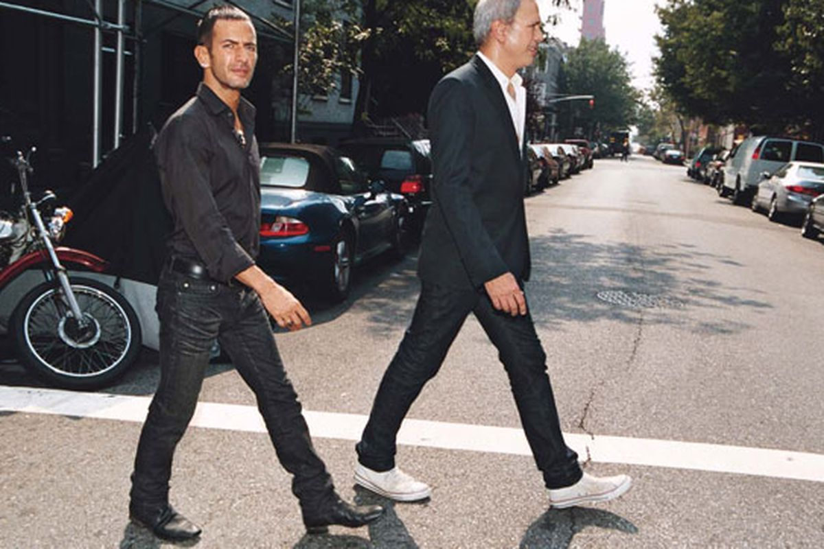 """Image of Marc Jacobs and Robert Duffy via <a href=""""http://www.wmagazine.com/fashion/2007/10/marc_jacobs_robert_duffy"""">W Magazine</a>"""