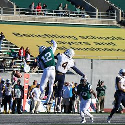 A pass broked up by Jalen Phelps