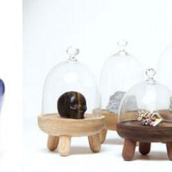 """Chair, left, by <a href=""""http://www.annaterhaar.nl/"""" rel=""""nofollow"""">Anna ter Haar</a>; cute little acorn pods, right, by <a href=""""http://www.nielscosman.com"""" rel=""""nofollow"""">Niels Cosman</a>"""