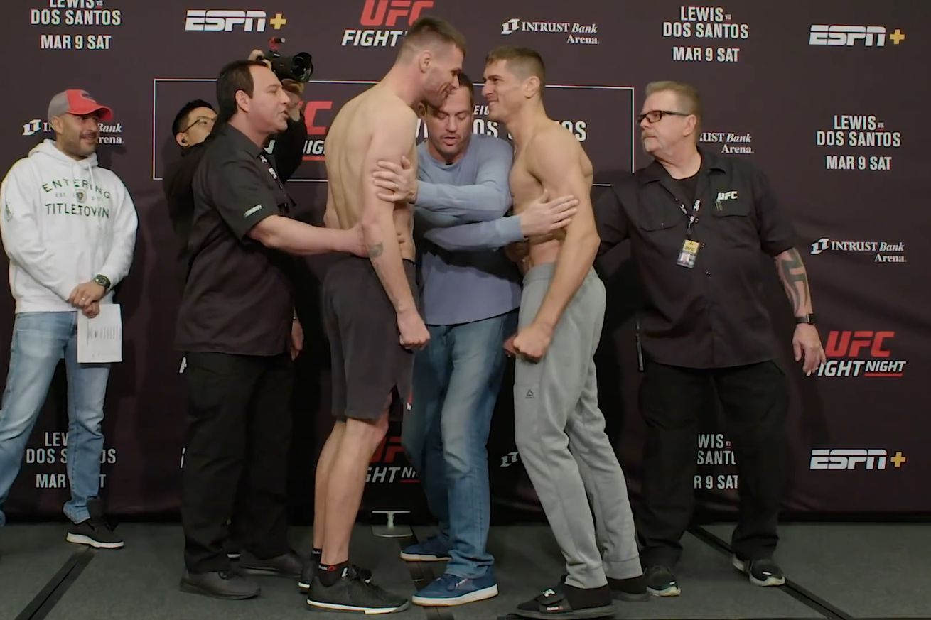 Tim Means and Niko Price face off ahead of their welterweight bout Saturday at UFC Wichita