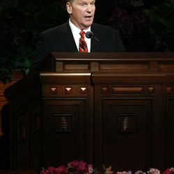 Elder Craig C. Christensen speaks during the morning session of the182nd Semiannual General Conference for The Church of Jesus Christ of Latter-day Saints in the Conference Center in Salt Lake City on Saturday, Oct. 6, 2012.