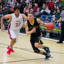 The Eagles from Layton Christian upset 5A Roy Royals 67-59  on Friday, Dec. 8, 2017.