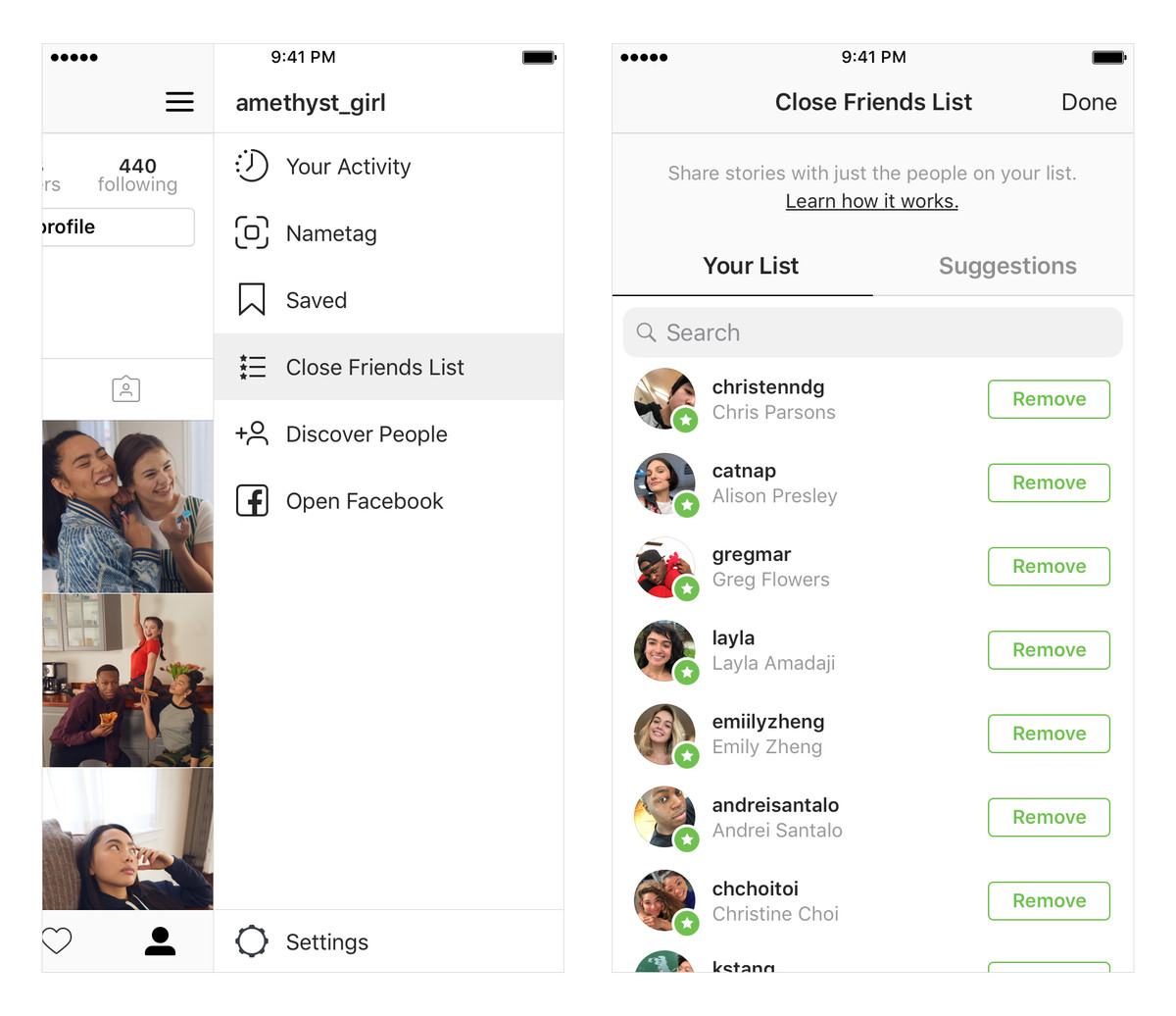 Instagram adds 'close friends' to let you share stories to a