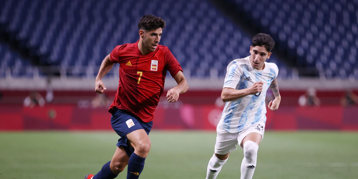 Marco Asensio starts in Spain's 1-1 draw with Argentina, Olympics 2021