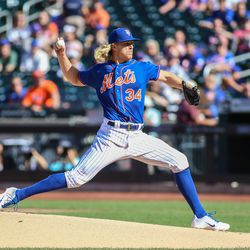 Noah Syndergaard, Mets starting pitcher on Tuesday (Game 2)
