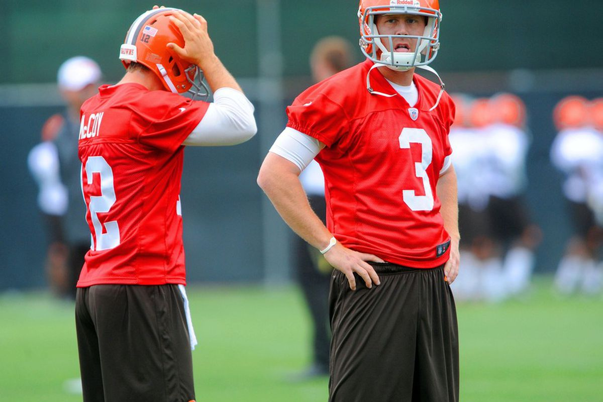reputable site 319dd 60170 Latest on Colt McCoy and the Browns, 'trading block' rumor ...