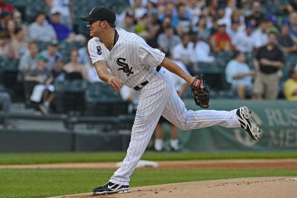 2012 American League All Star pitcher Jake Peavy of the Chicago White Sox, drafted in the 15th round in 1999 from high school in Semmes, Alabama. Mandatory Credit: Mike DiNovo-US PRESSWIRE