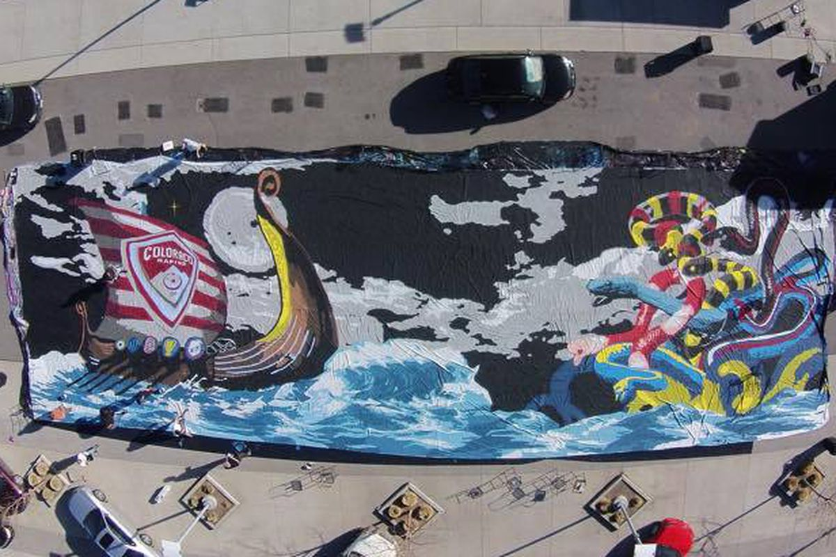 Centennial 38 Supporters Group and Their Epic Tifo for the Home Opener against NYCFC.