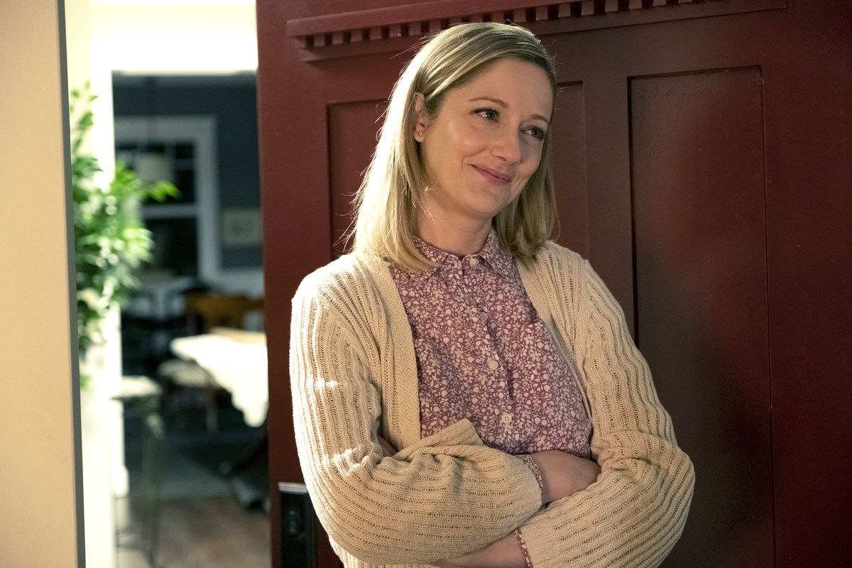 """Jill (Judy Greer) wants out of her marriage with Jeff on """"Kidding.""""   SHOWTIME"""