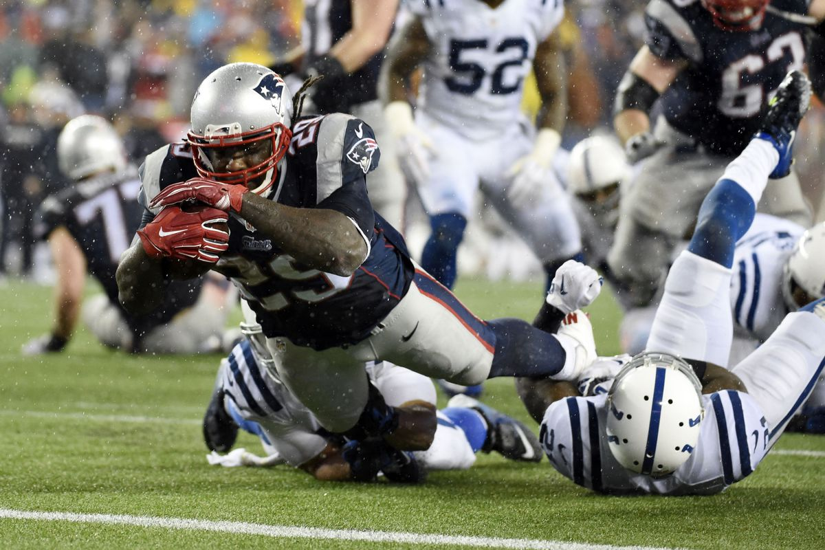 LeGarrette Blount and the Patriots are going to the Super Bowl