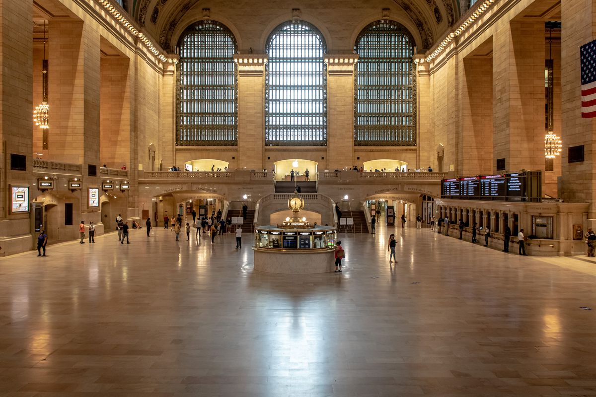 A sparsely populated Grand Central Terminal