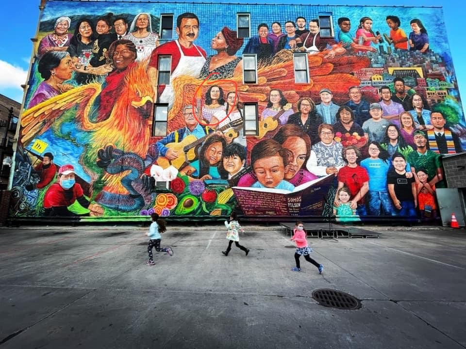 The faces of the Pilsen mural belong to neighborhood figures who are almost all still alive.