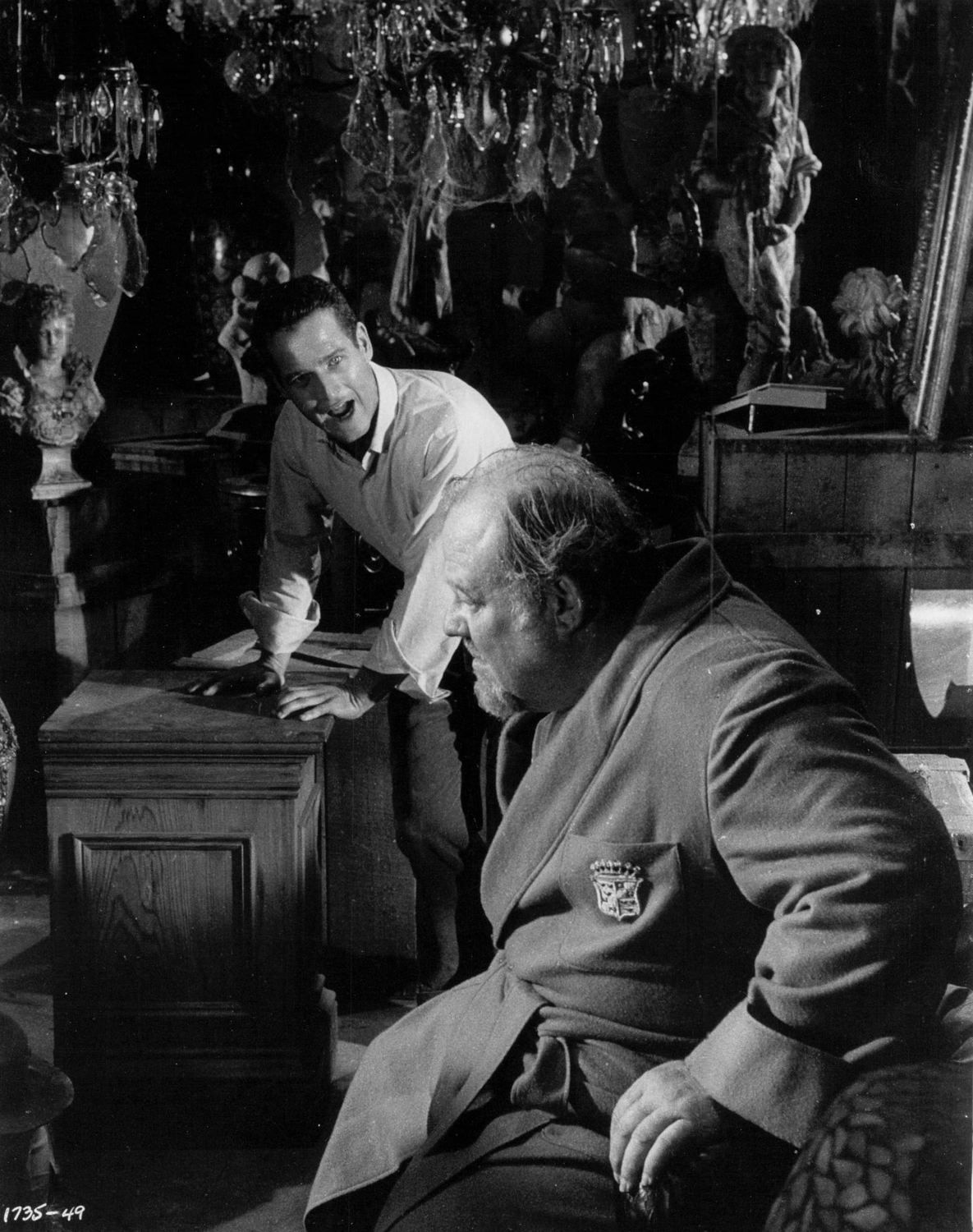 """Burl Ives, right, with Paul Newman in """"Cat on a Hot Tin Roof."""""""