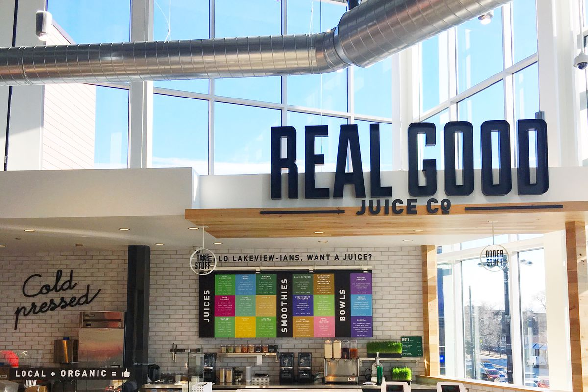 real good juice co counter