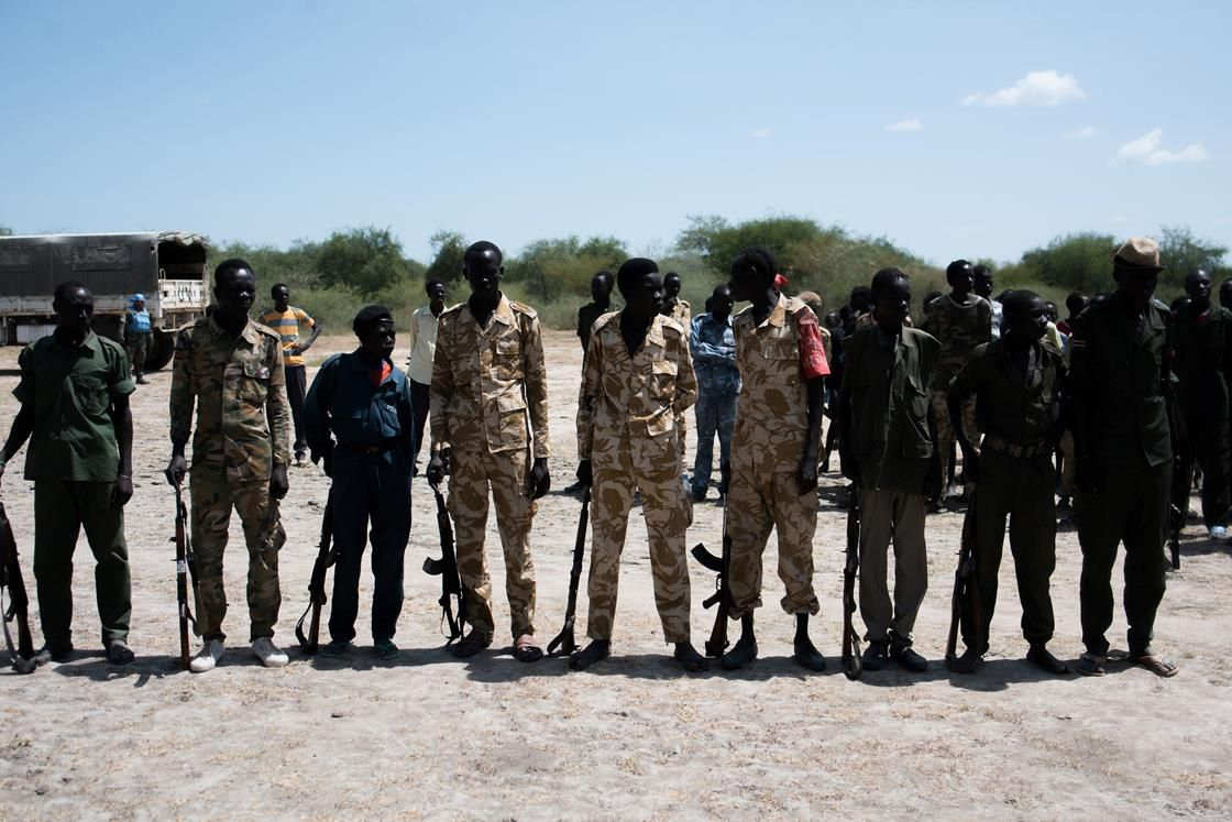 Soldiers in South Sudan