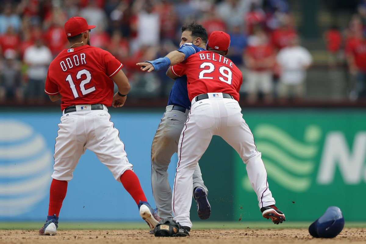 I'm not so sure Bautista was seeing straight at this moment.
