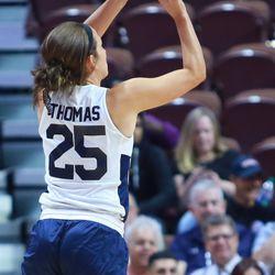 Mel Thomas puts up a three-pointer.