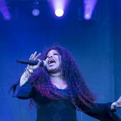 Chaka Khan performs at the Pitchfork Music Festival.   Ashlee Rezin/Sun-Times