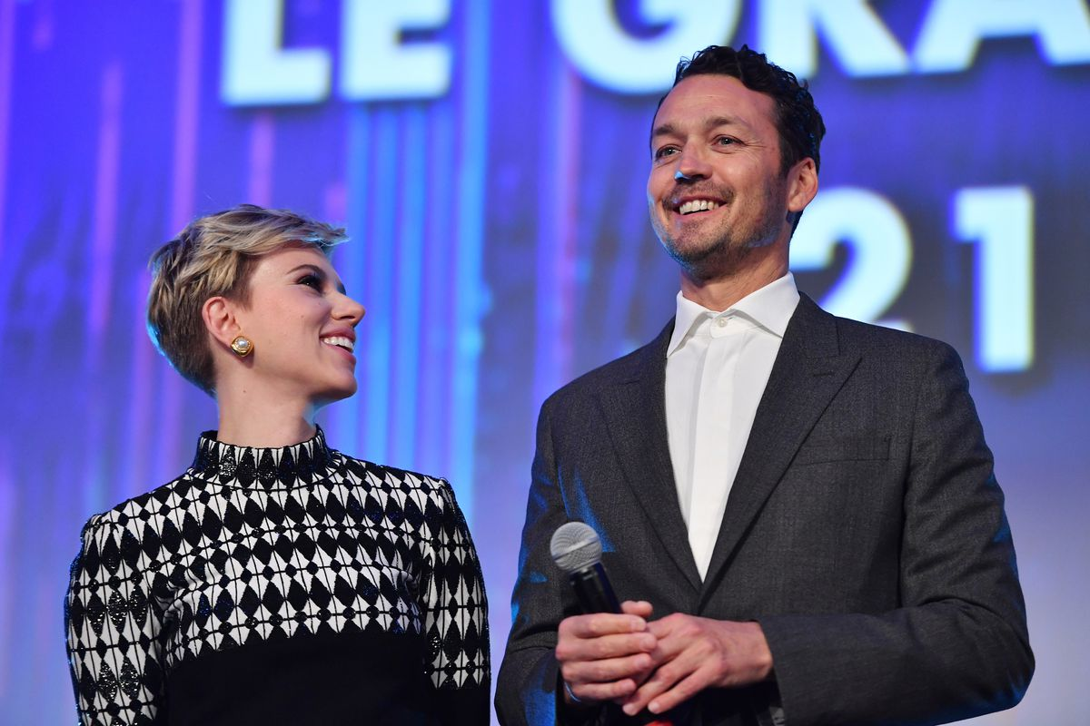 """Scarlett Johansson and Rupert Sanders attend the Paris Premiere of the Paramount Pictures release """"Ghost In The Shell"""""""