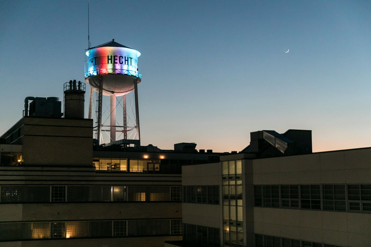 The water tower is a prominent feature of D.C.'s distillery-heavy Ivy City neighborhood.