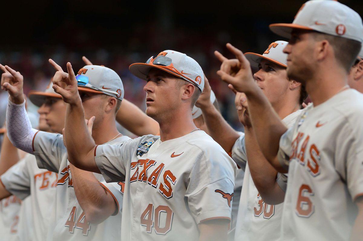 NCAA Baseball: College World Series-Arkansas vs Texas