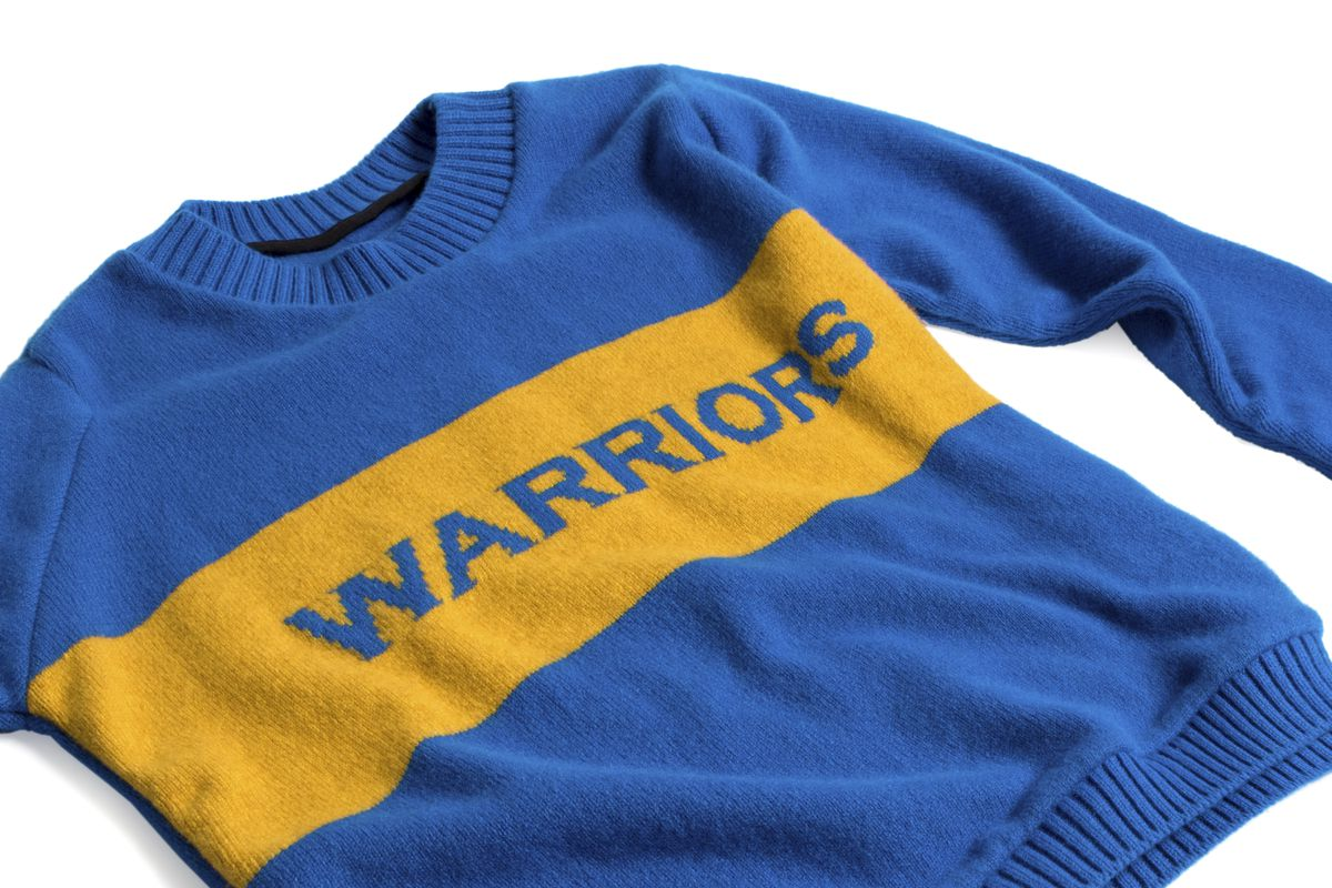 7522413c3068 Image of Elder Statesman x NBA Golden State Warriors Sweater The ...