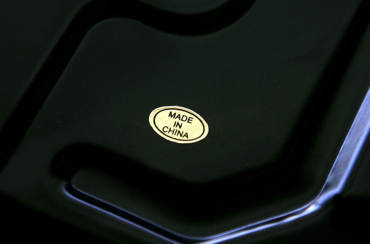 """A sticker with the words """"Made in China"""" is seen on the bottom of a scale April 12, 2005 in San Francisco."""