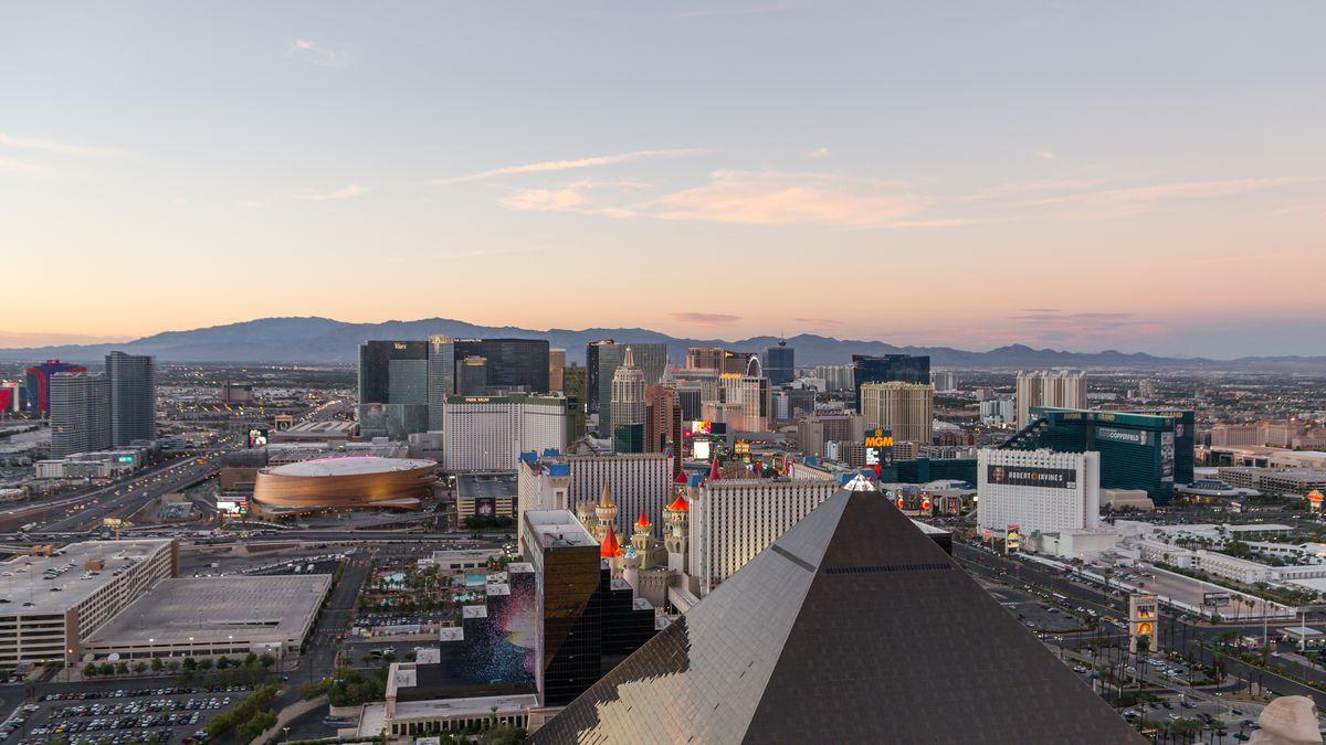 The skyline of Las Vegas