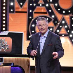 "Alec Baldwin hosts ""Match Game"" on ABC."