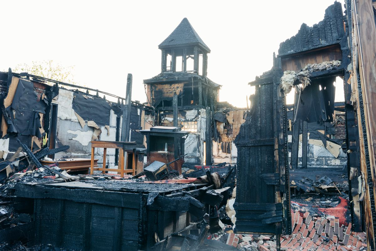 Mt. Pleasant Baptist Church was one of three historically black churches burned down over a 10-day period in Louisiana. The man accused of setting fire to the church now faces state and federal hate crimes charges.