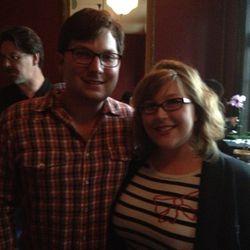 Urban Harvest market manager Tyler Horne and Houston Press critic Katharine Shilcutt
