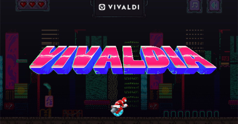Vivaldi browser gets cyberpunk side-scroller to rival Google Chrome's dinosaur game
