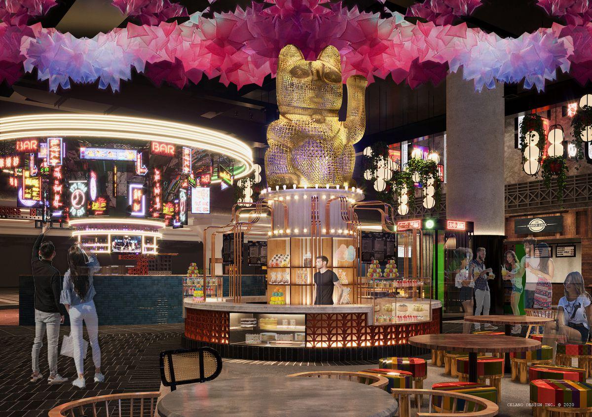 A rendering of a dessert bar