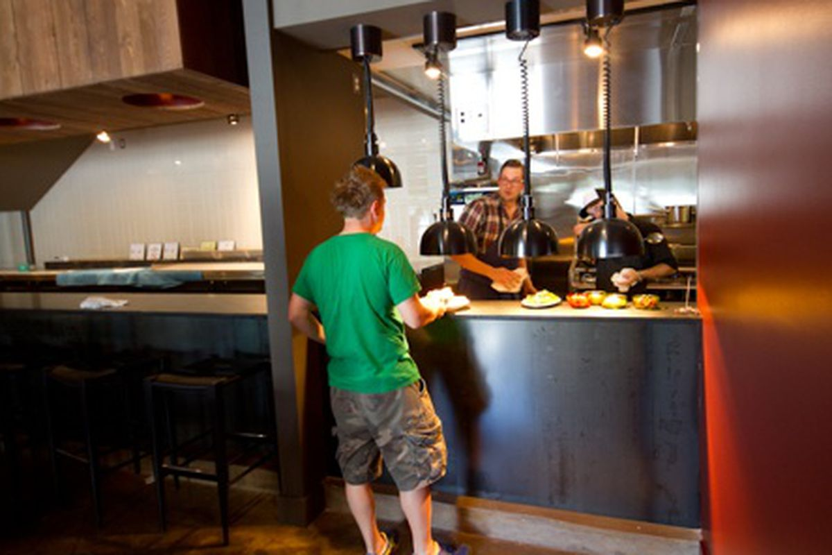 """Chefs Richard Blais and Jared Pyles during a pre-opening tasting at HD1. <a href=""""http://www.savoryexposure.com/""""></a>"""