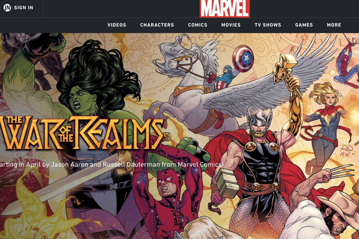 """""""Avengers: Endgame"""" is still about two weeks away. But Marvel Comics has released a new major crossover series event called """"The War of the Realms."""""""