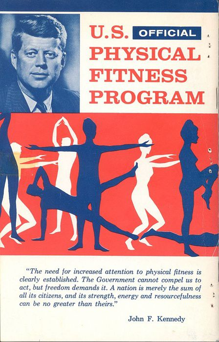One of Kennedy's fitness test booklets. (JFK Library)