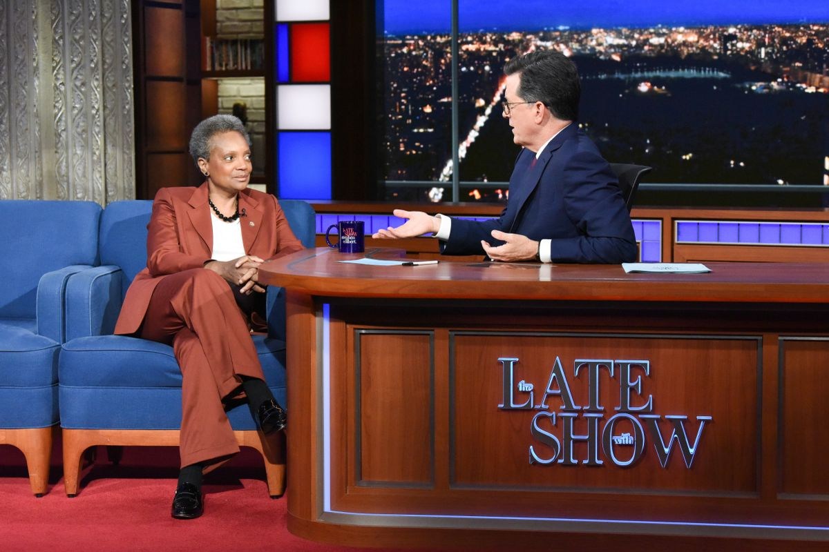 Chicago Mayor Lori Lightfoot on 'The Late Show with Stephen Colbert' answers the Chicago deep dish question