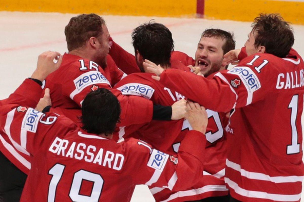Canada celebrates winning the tournament