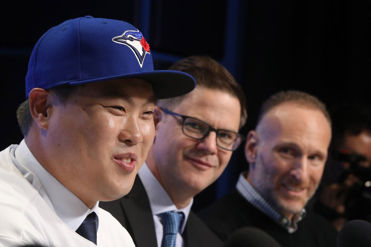 The Toronto Blue Jays host a media availability with new signed free agent left handed pitcher Hyun-Jin Ryu